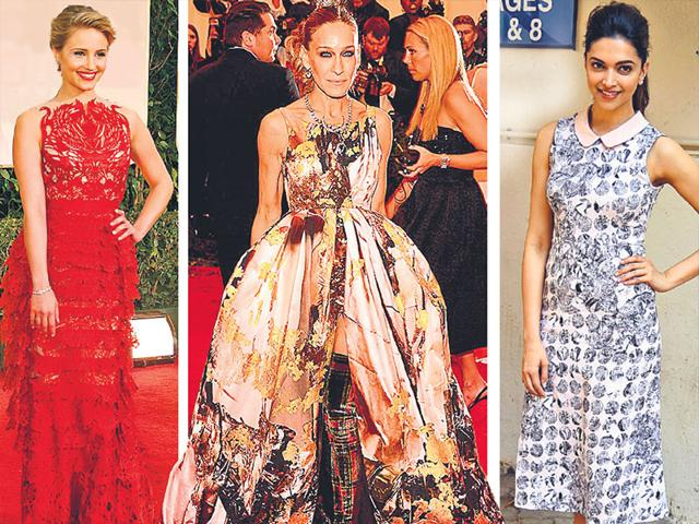 From-L-to-R-Dianna-Argon-Sarah-Jessica-Parker-and-Deepika-Padukone-in-Giles-Deacon-creations