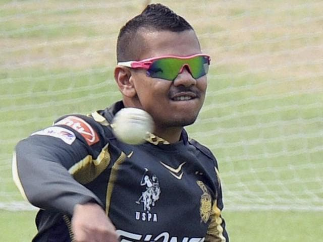 KKR-player-Sunil-Narine-during-a-practice-session-at-the-Eden-Gardens-in-Kolkata-PTI-Photo