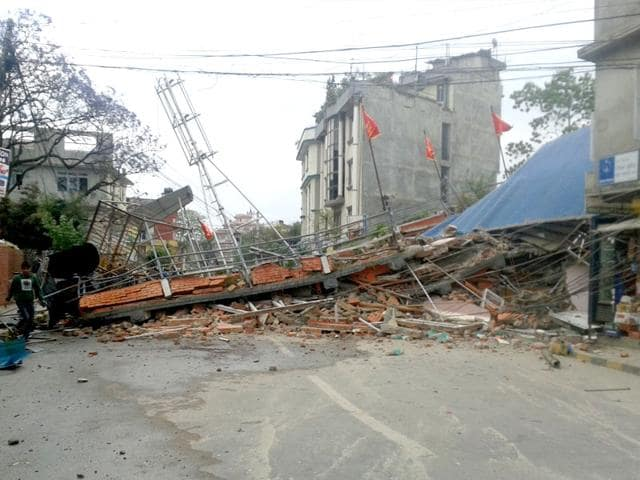 7-9-magnitude-earthquake-struck-east-of-Pokhara-in-Nepal-causing-widespread-damage-to-buildings-in-the-capital-Kathmandu-and-injuring-dozens-across-the-country-Utpal-Parashar-HT-Photo