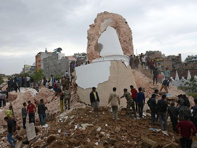 Damage-caused-by-the-earthquake-at-Durbar-Square-in-Kathmandu-Nepal-AP-Photo