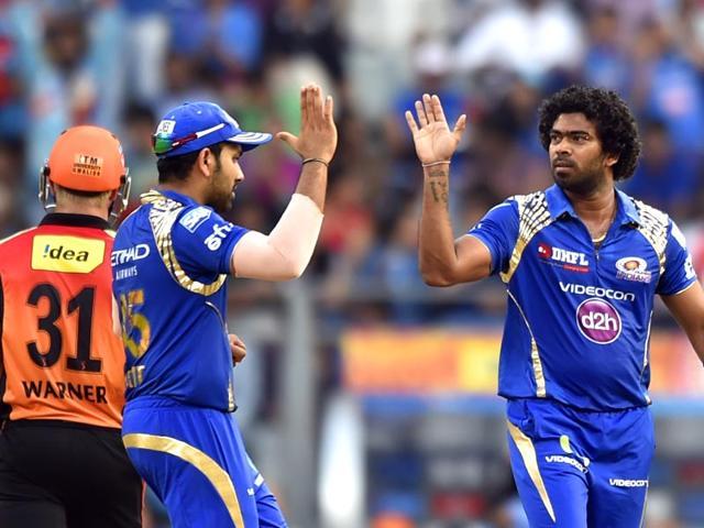 Lasith-Malinga-of-Mumbai-Indians-celebrates-after-taking-the-wicket-of-SunRisers-Hyderabad-s-David-Warner-Satish-Bate-Hindustan-Times