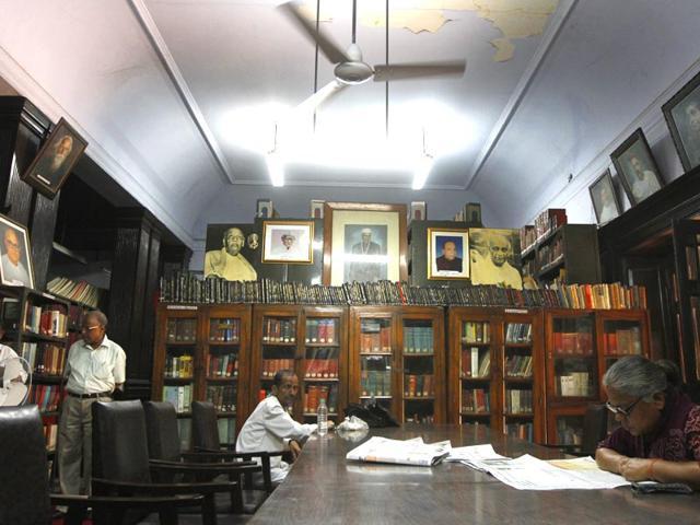 Sardar-Vallabh-Bhai-Patel-Smark-Trust-library-at-Jantar-Mantar-in-New-Delhi-India-Photo-Virendra-Singh-Gosain-HT