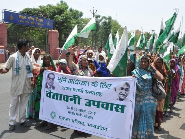 Ekta Parishad,PV Rajagopal,'anti-farmer' policies