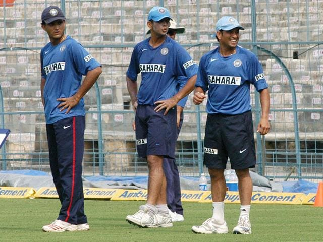 Sachin-Tendulkar-Sourav-Ganguly-and-Rahul-Dravid-will-provide-inputs-to-BCCI-president-Jagmohan-Dalmiya-and-secretary-general-Anurag-Thakur-who-were-entrusted-with-the-job-of-finding-the-new-coach-at-the-board-s-working-committee-meeting-Subhendu-Ghosh-HT-Photo