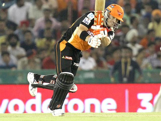 Sunrisers-Hyderabad-skipper-David-Warner-top-scored-with-58-and-led-the-defence-of-a-relatively-low-150-with-tigerish-fielding-and-imaginative-captaincy-at-the-Punjab-Cricket-Association-Stadium-in-Mohali-Keshav-Singh-HT-Photo