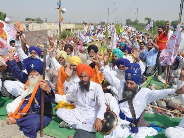 Rail Roko agitation,Amritsar-Delhi route,Joginder Singh