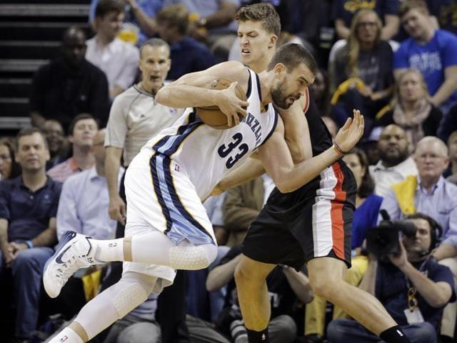Memphis-Grizzlies-center-Marc-Gasol-drives-against-Portland-Trail-Blazers-center-Meyers-Leonard-in-the-first-half-of-Game-5-of-an-NBA-basketball-playoff-series--in-Memphis-Tenn-AP-Photo