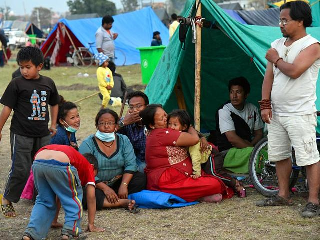 People-rest-at-a-makeshift-tent-at-Tudikhel-ground-in-Kathmandu-Nepal-Gurinder-Osan-HT-Photo