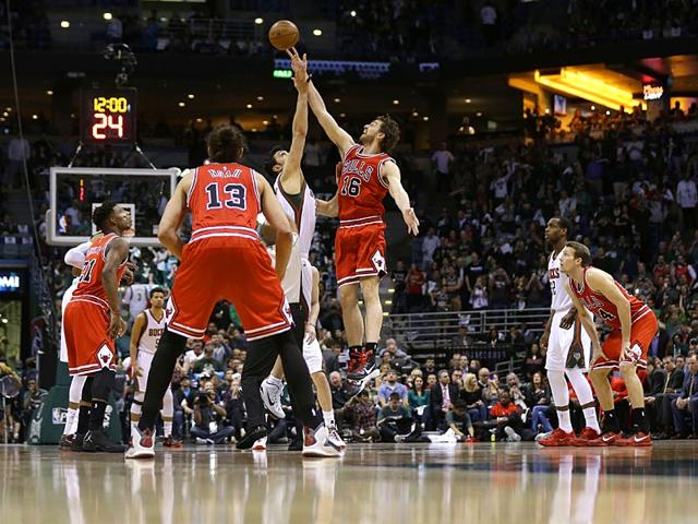 Pau-Gasol-of-the-Chicago-Bulls-wins-the-opening-tip-against-the-Milwaukee-Bucks-during-the-first-round-of-the-2015-NBA-Playoffs-at-the-BMO-Harris-Bradley-Centerin-Milwaukee-Wisconsin-AFP