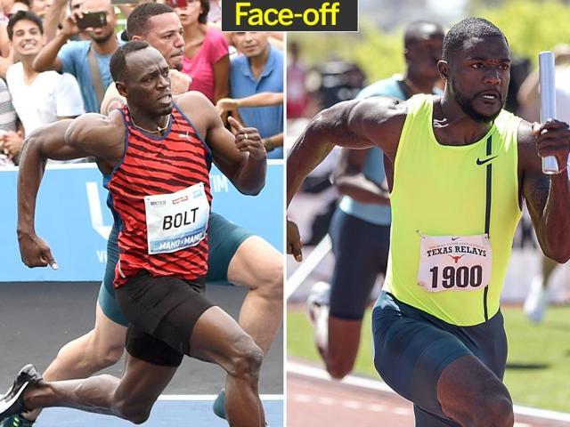 Usain Bolt,Justin Gatlin,World Relays