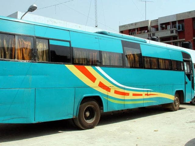 The-Orbit-Bus-impounded-by-the-police-at-Bagapurana-Police-Station-near-Moga-on-Friday-JS-Grewal-HT