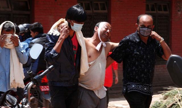 A-man-mourns-his-father-s-death-in-Bhakatpur-Nepal-Raj-K-Raj-HT-Photo