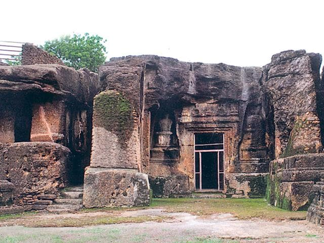 Archaeological Survey of India,centuries-old rock cut caves,Dhamnar
