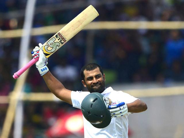 Tamim-Iqbal-acknowledges-cheers-after-scoring-a-double-century-during-the-fifth-day-of-the-first-cricket-Test-against-Pakistan-at-The-Sheikh-Abu-Naser-Stadium-in-Khulna-on-Saturday-His-knock-helped-Bangladesh-achieve-a-draw-Bangladesh-had-lost-all-their-eight-previous-Tests-against-Pakistan-AFP-Photo