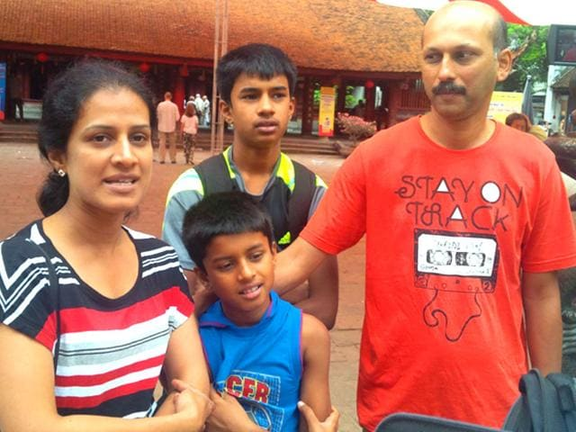 Bangalore-software-professional-Alex-with-his-family-at-Temple-of-Literature-in-Hanoi