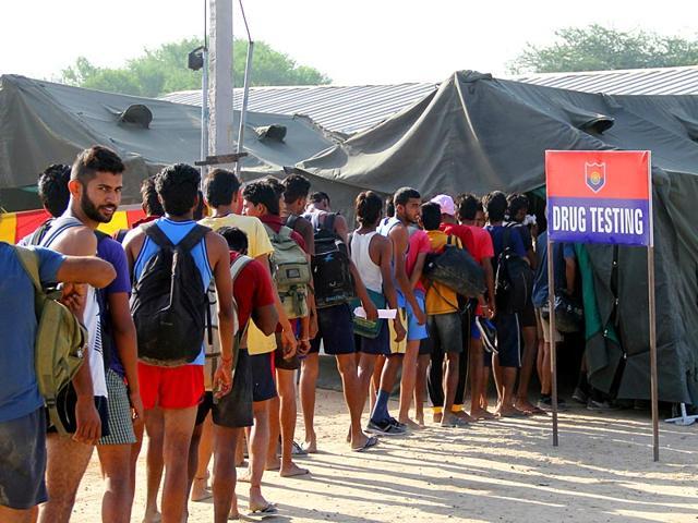 Army,recruitment rally,Drug test