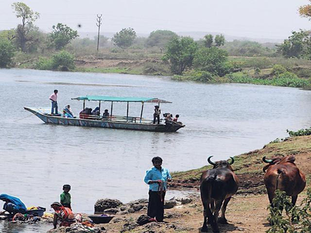 Narmada river,Ghogalgaon,Khandwa