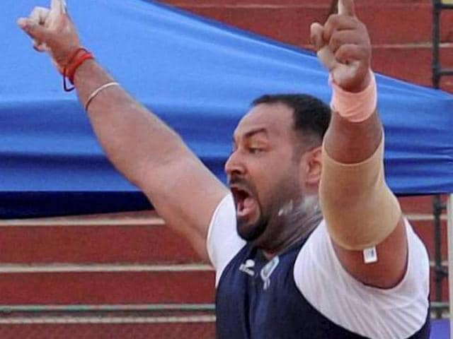 Shot-putter-Inderjeet-Singh-achieved-the-Olympic-qualification-mark-with-a-throw-of-20-65m-on-the-second-day-of-the-19th-Federation-Cup-at-Mangala-Stadium-in-Mangalore-PTI-Photo