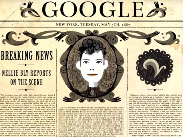 New-Google-Doodle-Honors-Trailblazing-Journalist-Nellie-Bly