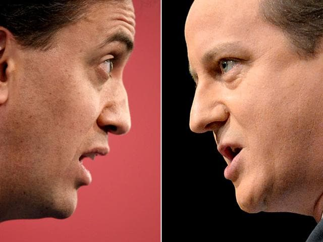 File-Photo-of-UK-Opposition-Labour-leader-Ed-Miliband-and-British-PM-David-Cameron-AFP-Photo