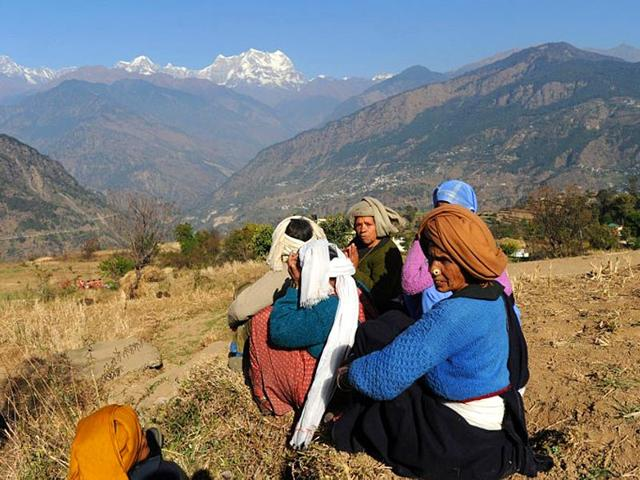 In-Uttarakhand-s-hilly-interiors-far-removed-from-the-development-taking-place-elsewhere-rural-settlements-are-fast-turning-to-ghost-villages-with-people-migrating-to-the-plains-in-search-of-employment-and-for-education-AFP-File-Photo