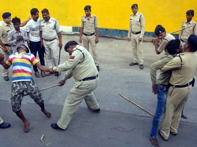 Anti-goonda campaign,police atrocity,anti-social elements