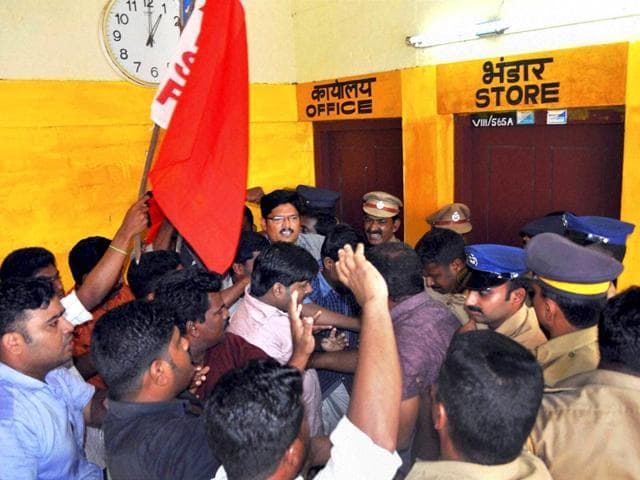People-protest-at-Sports-Authority-of-India-SAI-centre-in-Alappuzha-Kerala-after-a-student-Aparna-15-committed-suicide-on-Thursday-PTI-Photo