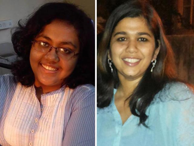 A-combo-picture-of-CLAT-2014-top-rankers-From-left-to-right-Archismita-Raha-and-Ankita-Agarwala-HT-file--photo