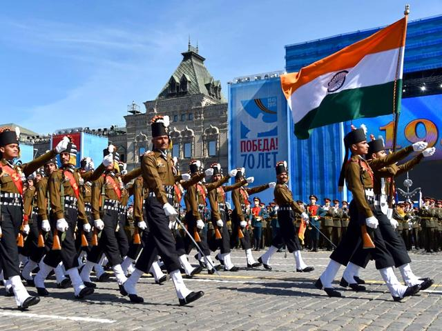 Indian soldiers,Victory Day,Russia. World War 2