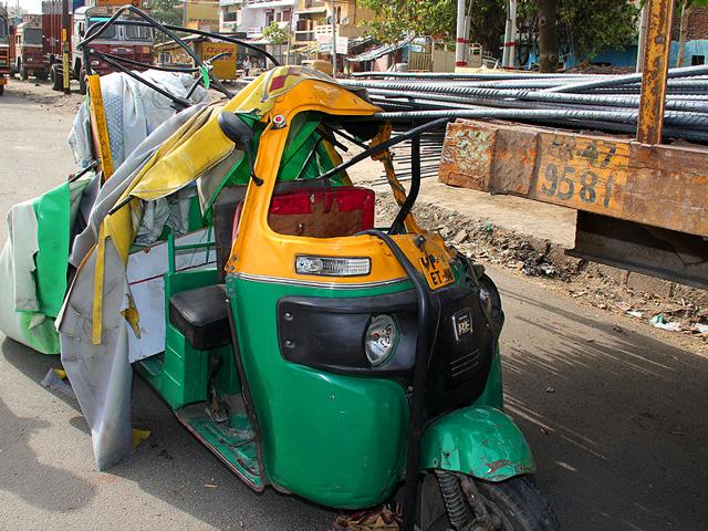 The-damaged-auto-rickshaw-after-it-crashed-into-the-stationary-truck-in-Ghaziabad-Sakib-Ali-HT-Photo
