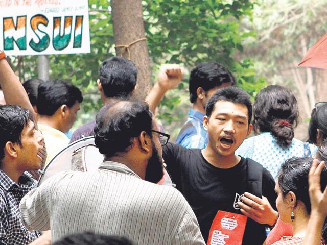 Left,May day,JNU. Student Unions