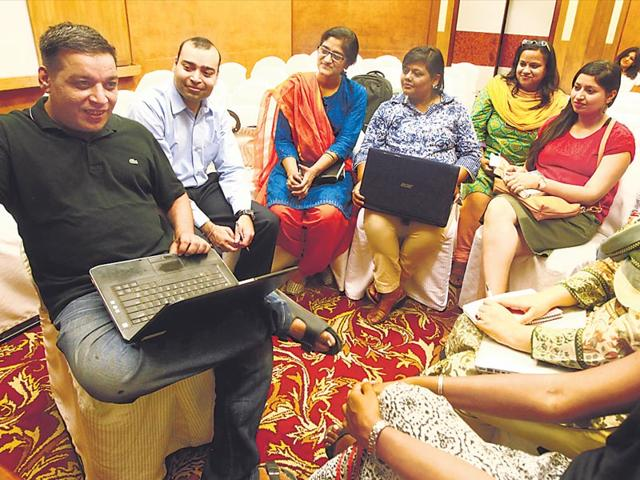The-emergence-of-writers-groups-across-the-country-points-to-the-growing-number-of-aspiring-authors-and-their-willingness-to-critique-and-support-each-other-In-this-photo-Members-of-Delhi-Aspiring-Writers-Group-in-the-capital-Sanjeev-Verma-HT-Photo