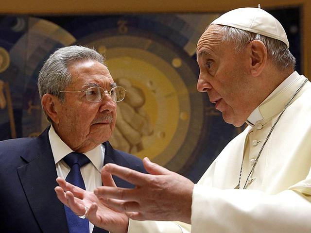 Raul Castro,Pope Francis,Vatican