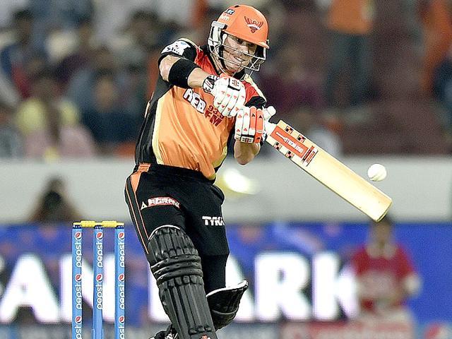 Sunrisers-Hyderabad-skipper-and-opener-David-Warner-got-his-team-off-to-a-blistering-start-against-Kings-XI-Punjab-at-the-Rajiv-Gandhi-International-Stadium-in-Hyderabad-on-May-11-Arijit-Sen-HT-Photo