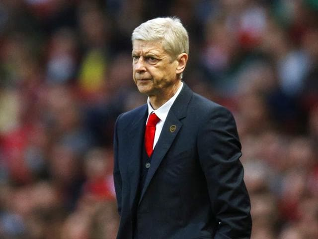Arsenal-manager-Arsene-Wenger-during-the-Barclays-Premier-League-match-between-Arsenal-and-Swansea-City-at-the-Emirates-Stadium-in-London-REUTERS