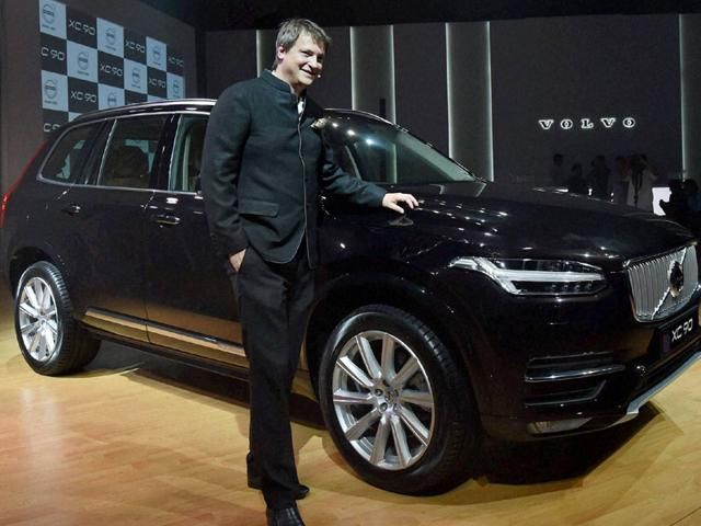 Volvo-Auto-India-s-Managing-Director-Tomas-Ernberg-during-launch-of-the-new-SUV-XC90-in-Mumbai-on-Tuesday--Photo-PTI