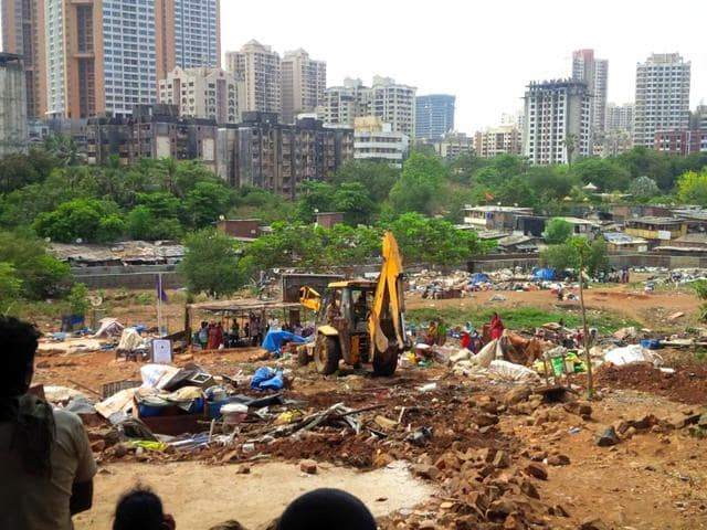 The-illegal-shanties-were-cleared-from-a-seven-acre-area-at-unit-32-close-to-Ram-Nagar-and-a-three-acre-area-at-unit-16-in-Aarey-Colony-HT-photo