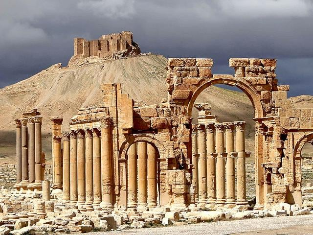 A-file-picture-shows-a-partial-view-of-the-ancient-oasis-city-of-Palmyra-215-kilometres-northeast-of-Damascus-AFP-Photo-Joseph-Eid