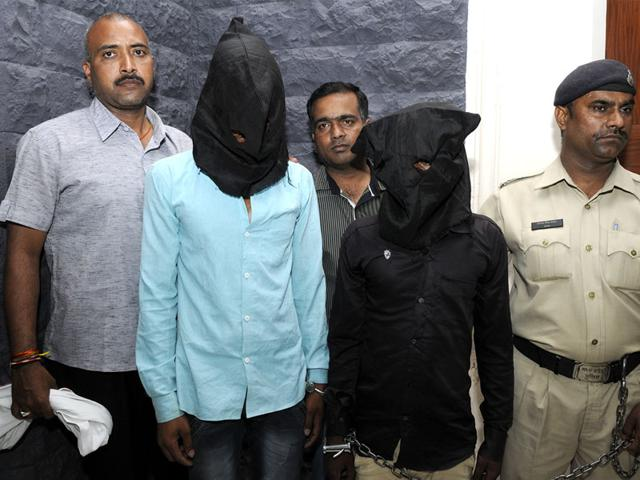 Two-accused-of-gang-rape-at-police-control-room-in-Indore-on-Friday-Shankar-Mourya-HT-photo