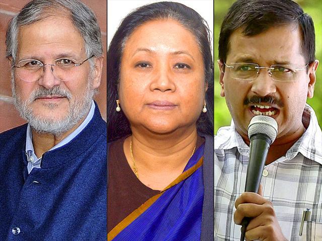 A-combination-photo-of-Delhi-L-G-Najeeb-Jung-senior-bureaucrat-Shakuntala-Gamlin-and-chief-minister-Arvind-Kejriwal-Agencies