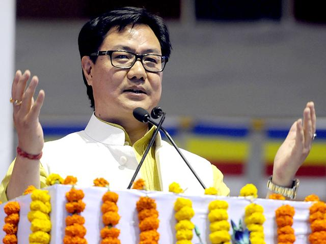 Minister-of-state-for-home-affairs-Kiren-Rijiju-at-an-event-in-New-Delhi-Sonu-Mehta-HT-Photo