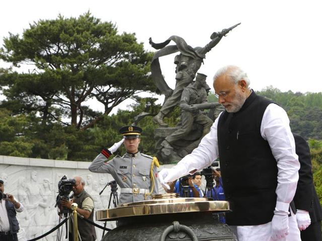 Prime-Minister-Narendra-Modi-burns-incense-at-the-National-Cemetery-in-Seoul-South-Korea-Monday-AP-Photo