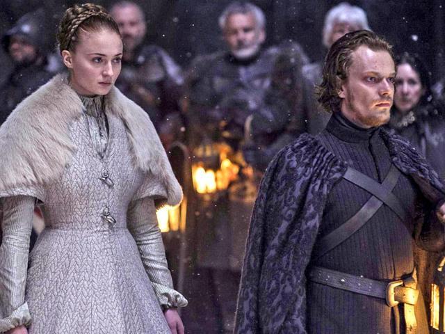 Sophie-Turner-and-Alfie-Allen-in-a-still-from-Game-of-Thrones-season-5-episode-Unbowed-Unbent-Unbroken