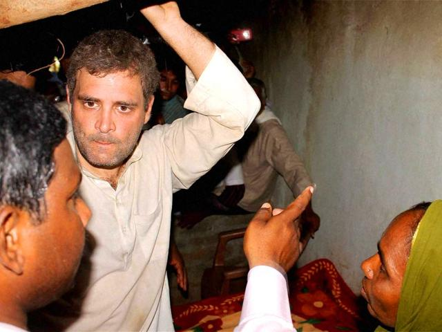 Congress-vice-president-Rahul-Gandhi-meets-family-members-of-the-famers-who-committed-suicide-during-his-15-KM-padyatra-on-farmers-issue-at-Nirmal-in-Adilabad-district-of-Telangana-PTI-Photo