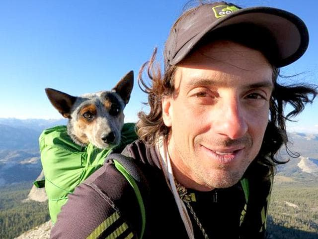 Extreme-athlete-Dean-Potter-with-his-dog-Whisper-Photo-Dean-S-Potter-Website