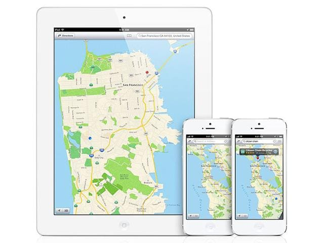 The-Maps-app-seen-here-in-iOS-is-only-available-on-Apple-devices-Photo-AFP