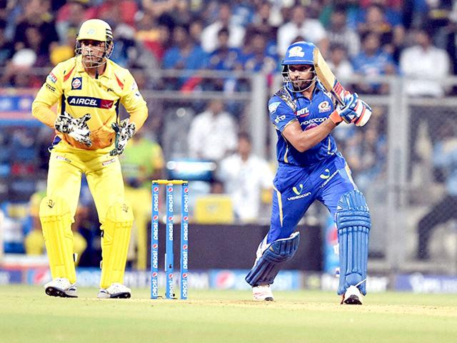 Mumbai-Indians-batsman-Rohit-Sharma-plays-a-shot-against-Chennai-Super-Kings-during-a-IPL-T20-match-in-Mumbai-PTI-Photo
