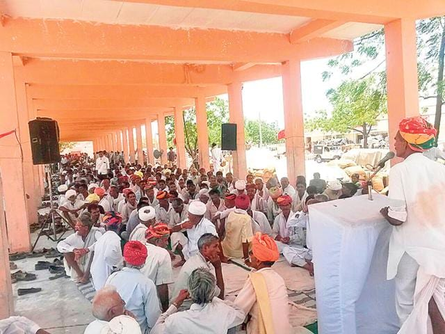 Jats-hold-a-meeting-before-submitting-a-memorandum-to-the-district-collector-at-Dangawas-village-on-Monday-HT-Photo-