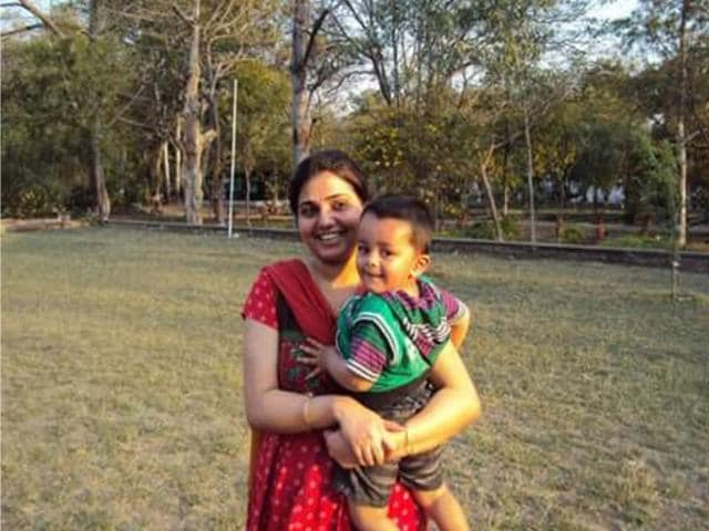 Gauri-Rai-with-her-child-Dr-Rai-was-suspended-as-she-had-proceeded-on-leave-without-pay-when-her-demand-for-child-care-leave-in-2014-was-turned-down