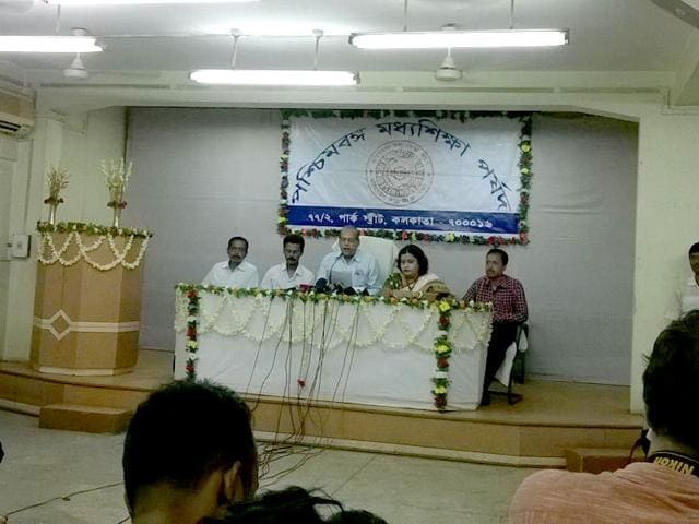 The-West-Bengal-board-declared-the-Class-10-exam-results--at-a-press-conference-in-Salt-Lake-Kolkata-on-Friday-HT-photo